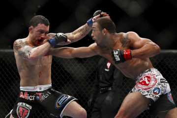 Frankie Edgar (L) vs. Jose Aldo (R) (Esther Lin/MMAFighting_