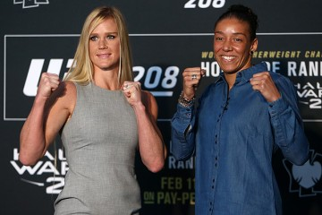 Holly Holm (l) and Germaine De Randamie (r) (Dave Mandel/Sherdog)