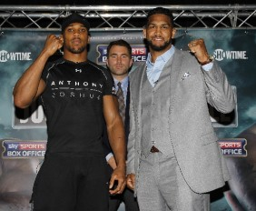 Dominc Breazeale (l) and Anthony Joshua (Matchroom Sports via Sherdog.com)