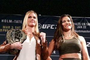 Holly Holm (l) and Miesha Tate (Mike Sloan/Sherdog)